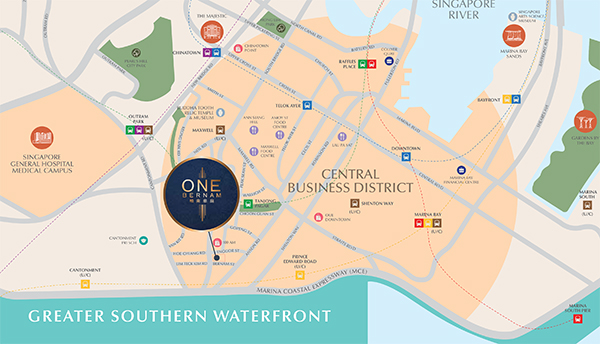 One Bernam Location Map Thumbnail
