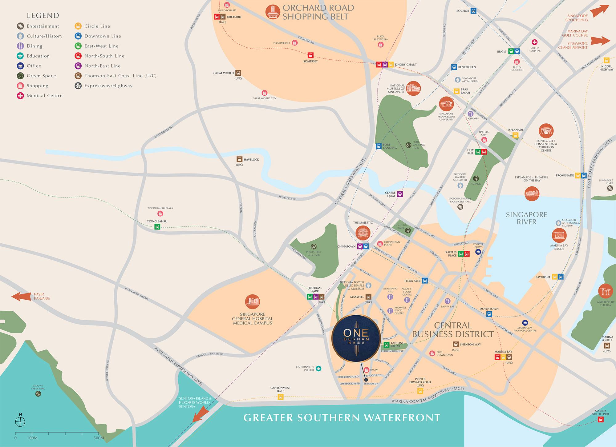 One Bernam Location Map